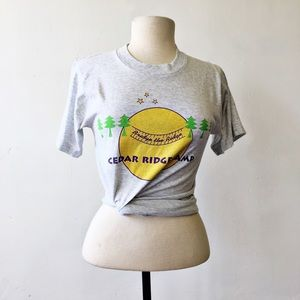 Vintage Gray Single Stitch Summer Camp T-Shirt